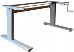 ErgoDesk Low manual table  (Alu)