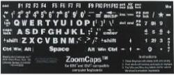 Keyboard stickers white on black