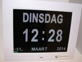 Large digital clock with day and month display