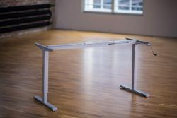 Height Adjustable Desk Ergo2Move Basic silver-grey (Steel)